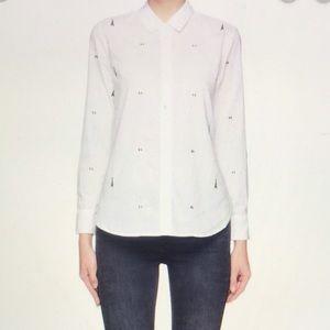 Equipment Femme Eiffel Tower Shirt White Size Sm